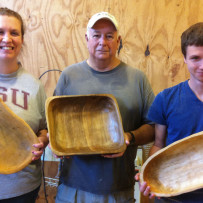 Power Carving Students with Finished Projects