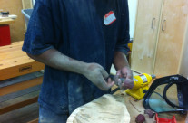 A Carving Under Way